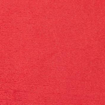 Toile aspect velours rouge