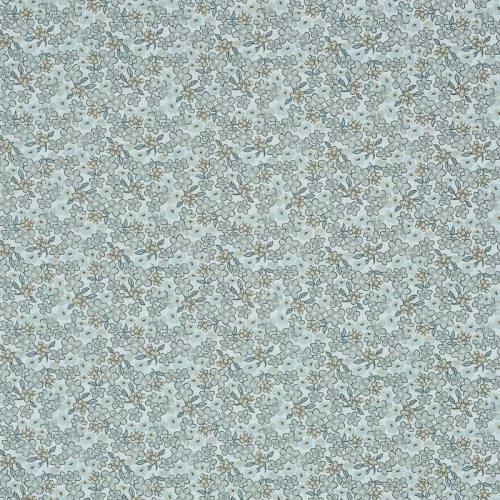 Coton fleurs lilas grises