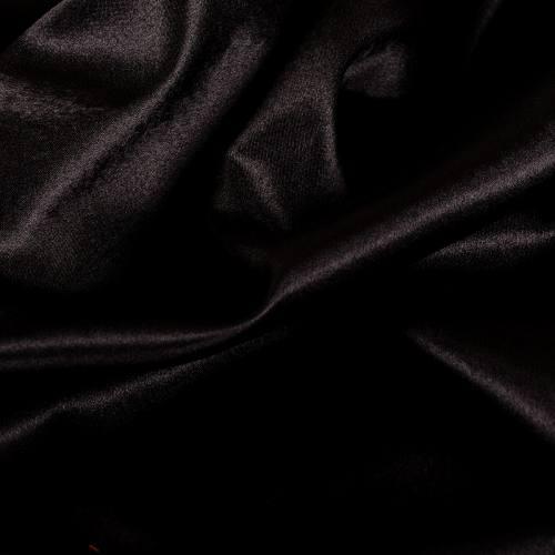 Rouleau 40m Satin uni noir 110cm