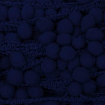 Galon pompon 15 mm bleu foncé