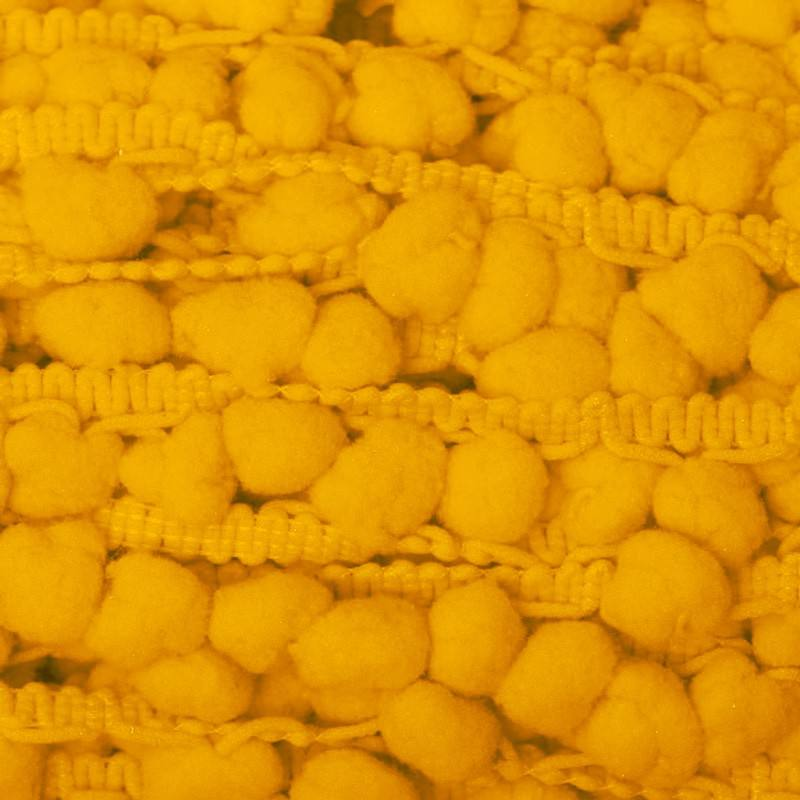 Galon pompon 15 mm jaune