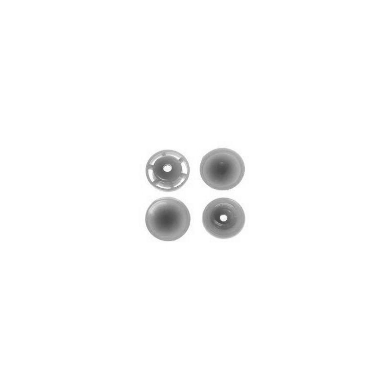 Boite de boutons-pression ronds en résine Color snaps argent