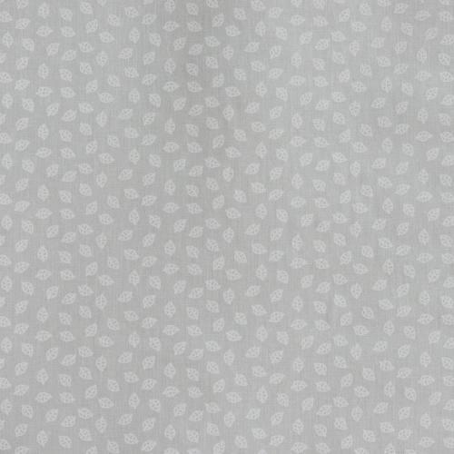 Coton gris clair imprimé petites feuilles