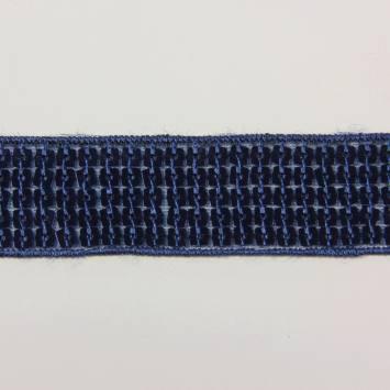 Bobine 10m Galon paillettes carrées bleu roi