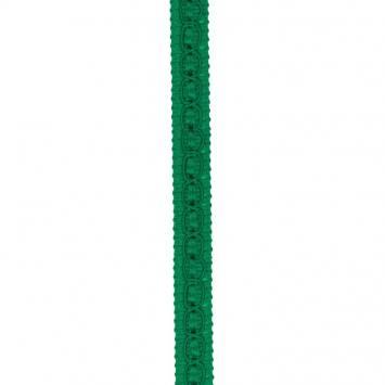 Galon fantaisie 10 mm vert émeraude