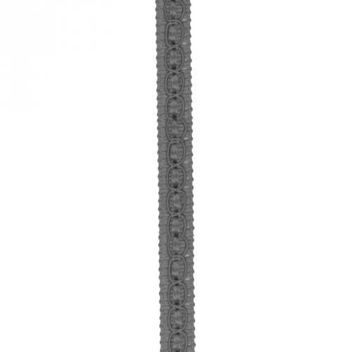Galon fantaisie 10 mm gris foncé