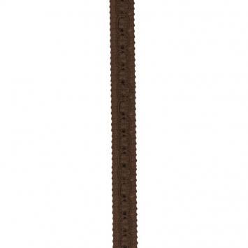 Galon fantaisie 10 mm chocolat