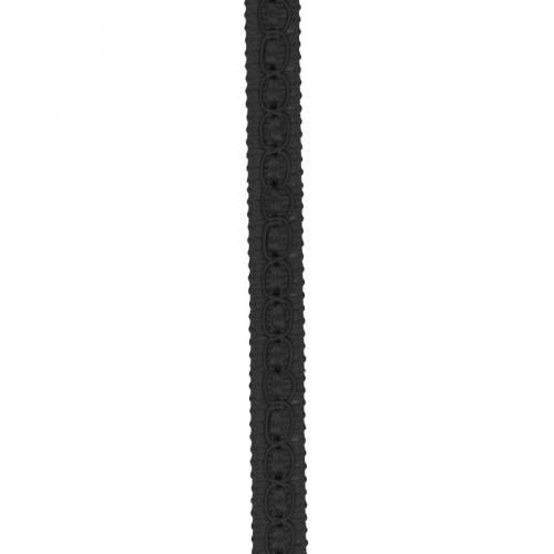 Galon fantaisie 10 mm noir
