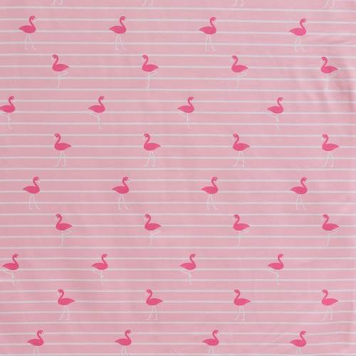 Jersey rayé rose imprimé flamant-rose