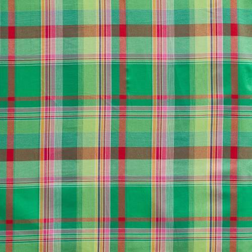 Coton madras vert