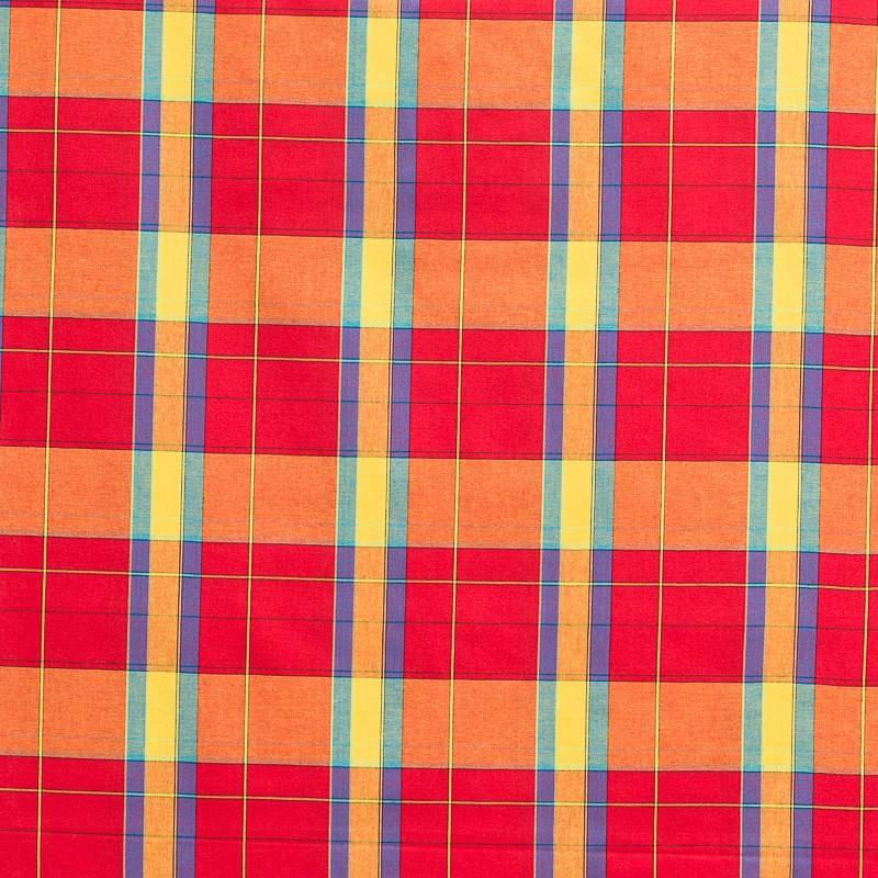 Coton madras rouge pas cher - Tissus Price