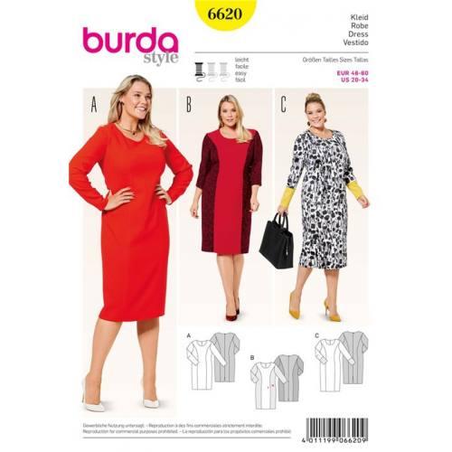 Patron Burda 6620 : Robe Taille : 46-60