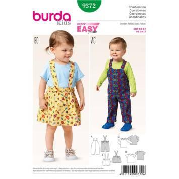Patron Burda 9372: Coordonnés Taille : 62 à 92 cm
