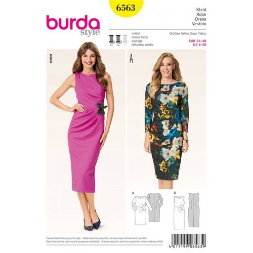 Patron Burda 6563 : Robe Taille : 34-46