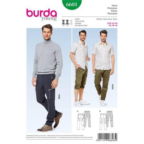 Patron Burda 6603 : Pantalon Taille : 46-58