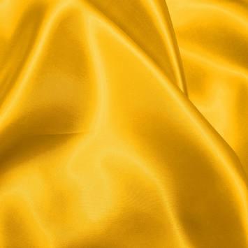 Satin uni jaune 150 cm