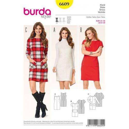 Patron Burda 6609 : Robe Taille : 34-46