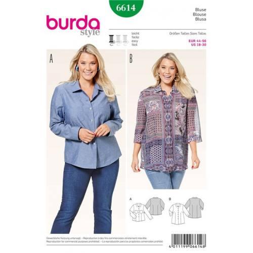 Patron Burda 6614 : Blouse Taille : 44-56
