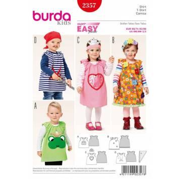 Patron Burda 2357 Carnaval : T-shirt Enfant Taille: 68/74-92/98