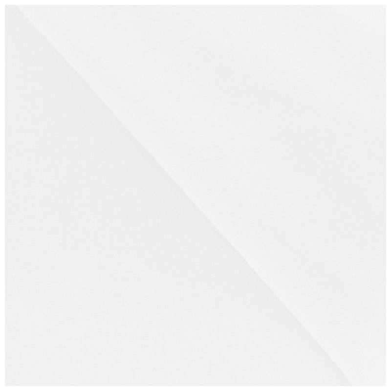Polycoton uni blanc