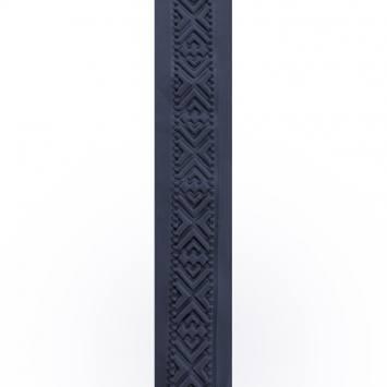 Galon relief 50 mm thermoformé motifs géométriques bleu marine