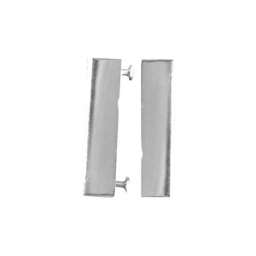 Fermoir magnet argent 38x19 mm