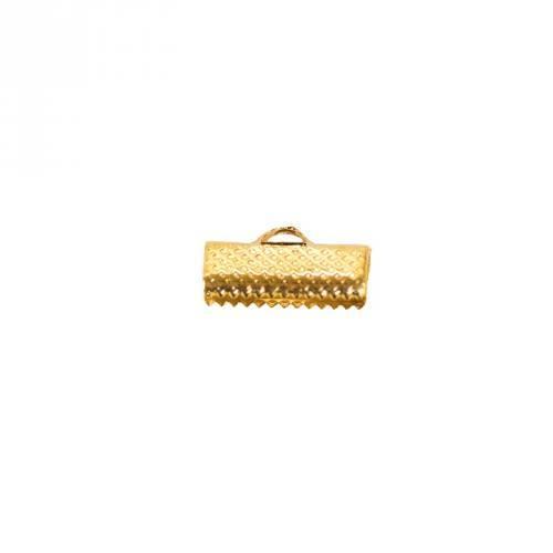 Fermoir doré pour rubans 16x7,5mm