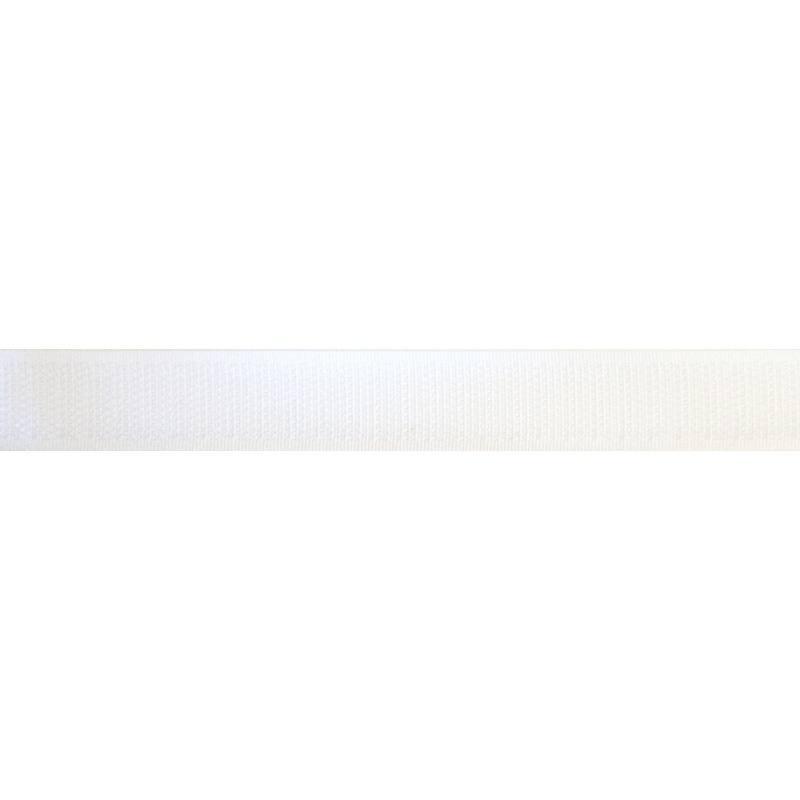 Rouleau 25m Auto-agrippant à coudre crochet 20 mm blanc