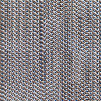 Coton bleu roi motif wax écaille