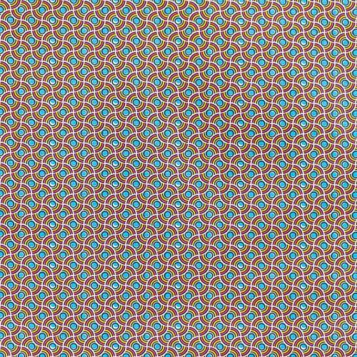 Coton fuchsia motif wax perle