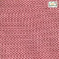 Coton rouge motif seigaiha