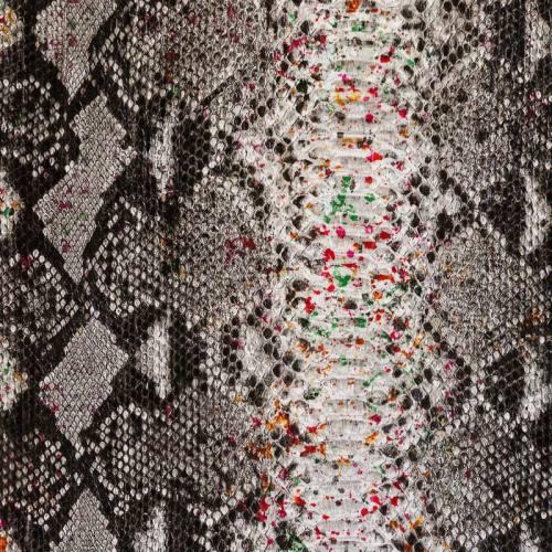 Simili cuir noir à relief peau de serpent