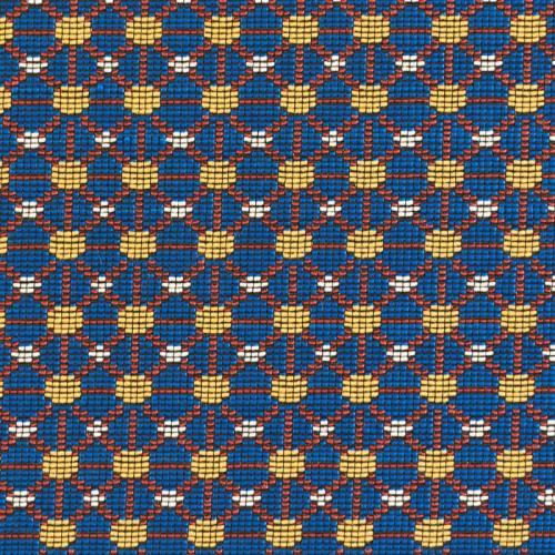Jacquard bleu motif wax