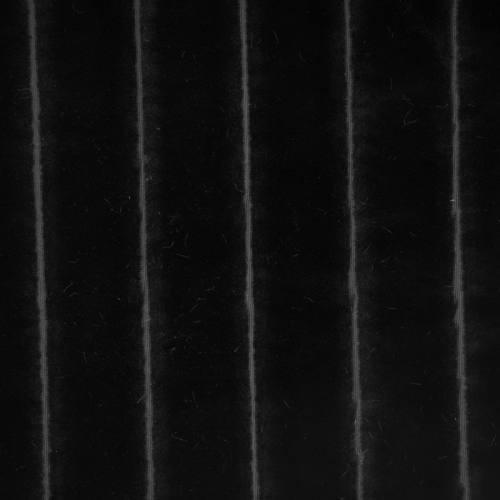Fausse fourrure noire à relief