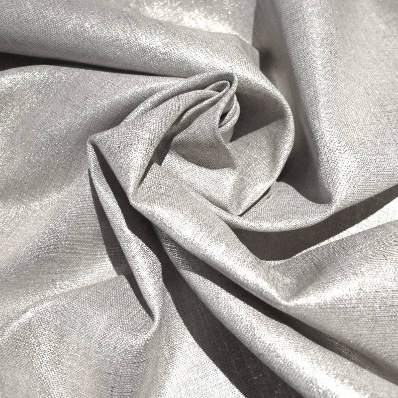 lin lurex argent pas cher tissus price. Black Bedroom Furniture Sets. Home Design Ideas