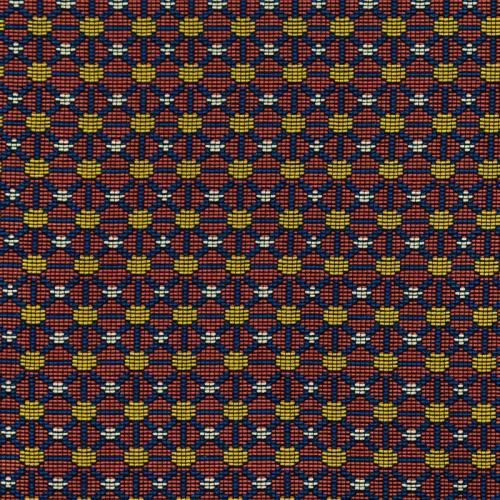Jacquard rouge motif wax