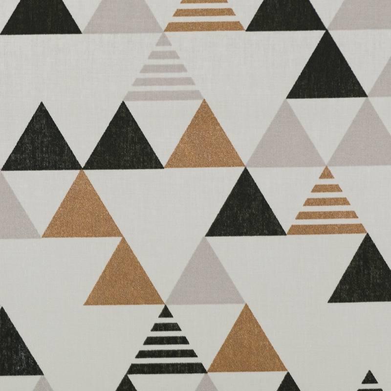 coton blanc motif triangle bronze gris et noir pas cher. Black Bedroom Furniture Sets. Home Design Ideas