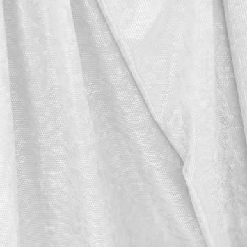 Maille extensible blanche écailles brillantes