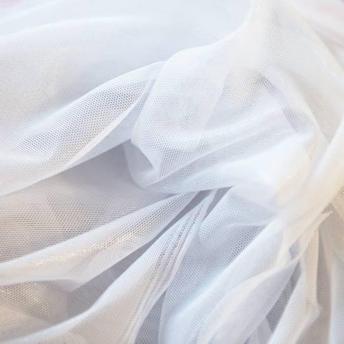 Résille extensible blanche lurex