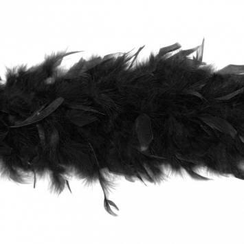 Écharpe Boa noire 2 mètres