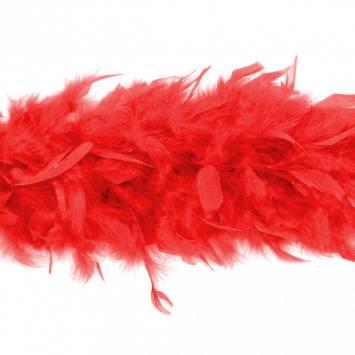 Écharpe Boa rouge 2 mètres