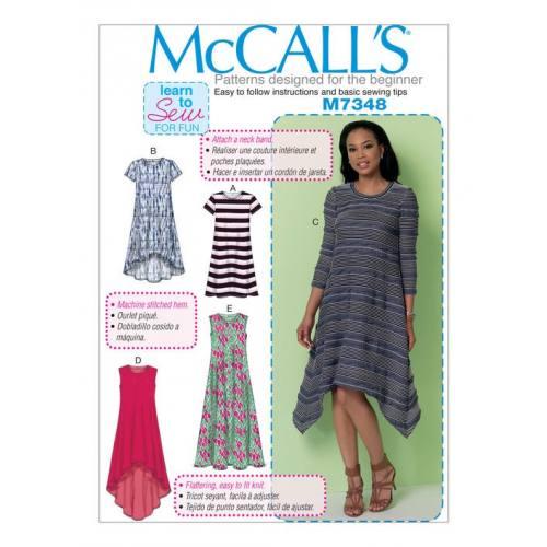 Patron Mc Call's M7348 : Robes 34-42