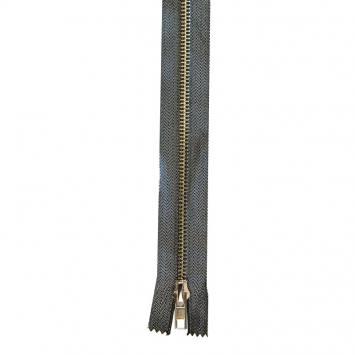 Fermeture en métal lurex anthracite 20 cm