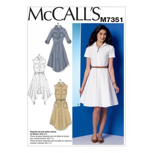 Patron Mc Call's M7351 : Robes 34-42
