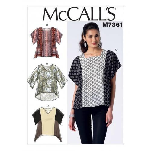 Patron Mc Call's M7361 : Hauts Taille : 42-50