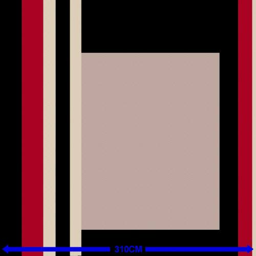 Coton percale imprimé noir, taupe et rouge grande largeur