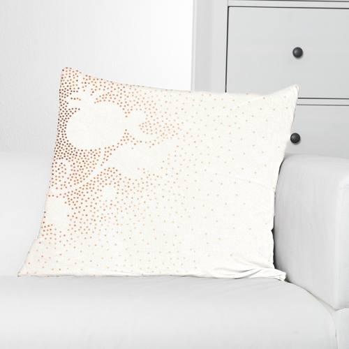 Coton percale écru imprimé dessin à pois ocre grande largeur