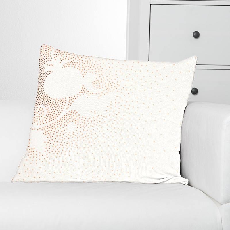 Rouleau 50m Coton percale écru imprimé dessin à pois ocre grande largeur