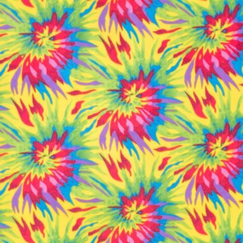 Tissu polaire imprimé multicolore
