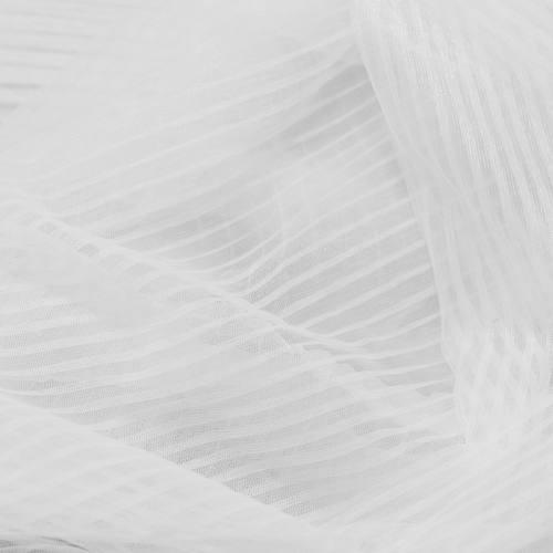 Tulle uni blanc cassé plissé
